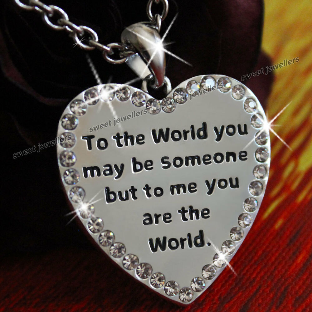 20 Romantic 2 Sided Worded Heart Love Wife Lady Women