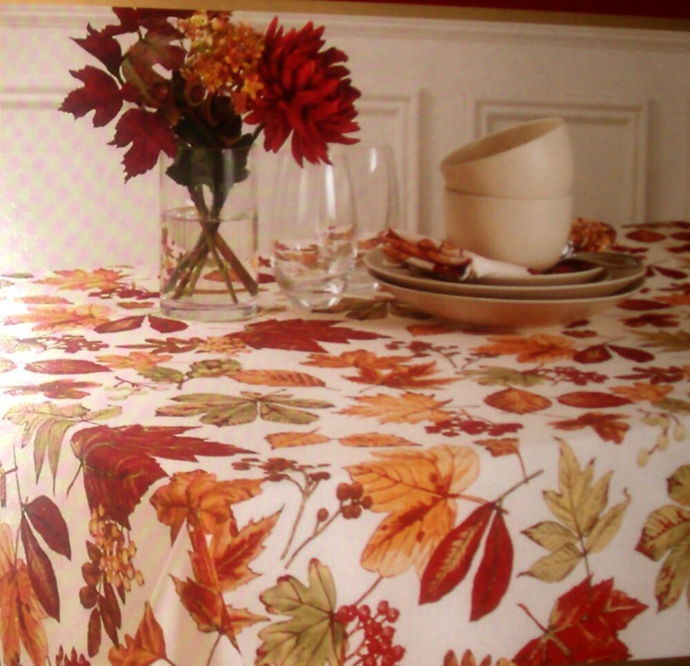 Fall Prints Fabric Tablecloth Size 60 X102 Quot Oblong By