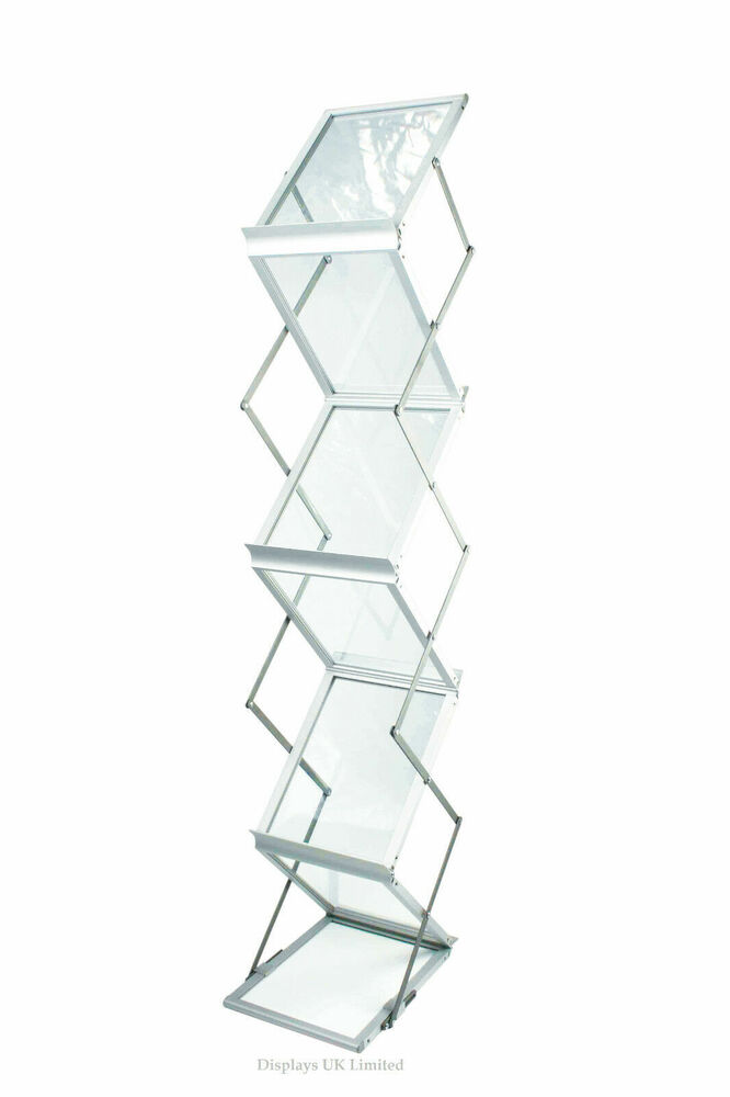 Portable Exhibition Display : A portable folding exhibition brochure display stand with