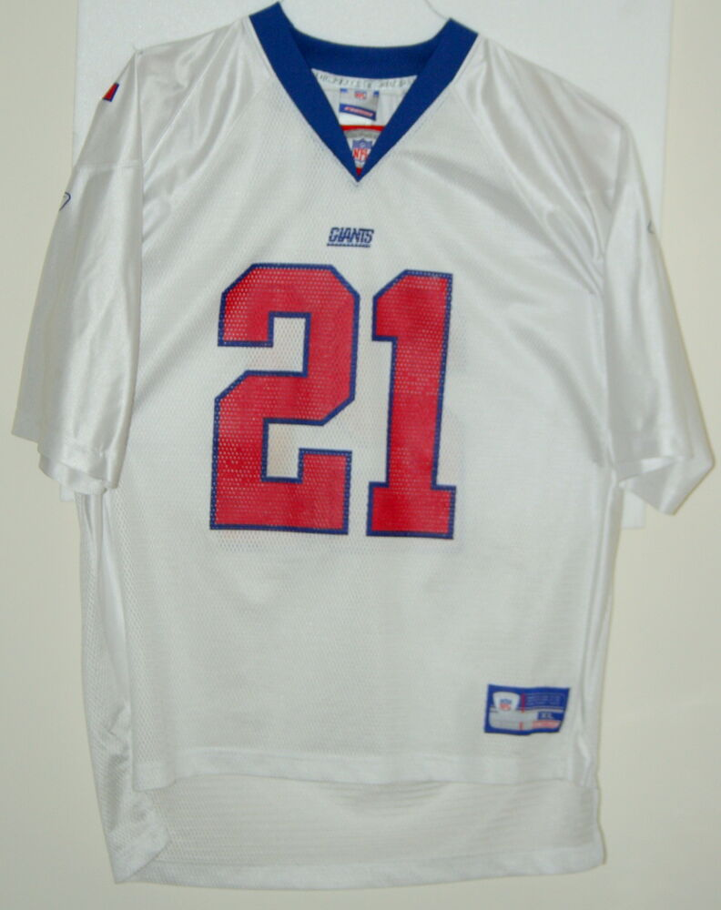 1babdb8e9af Tiki Barber New York Giants  21 XL Reebok Football Team NFL Jersey X-Large
