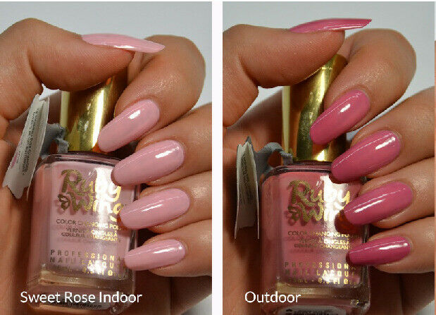 Ruby Wing Sweet Rose Pale Hot Pink Mood Color Changing Nail Polish Ebay
