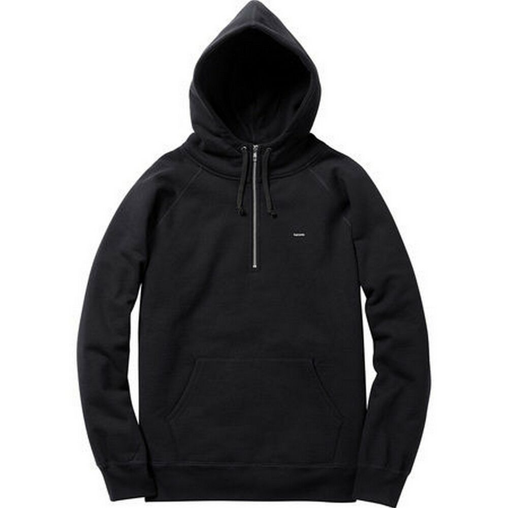 supreme small box half zip pullover black m box logo comme. Black Bedroom Furniture Sets. Home Design Ideas