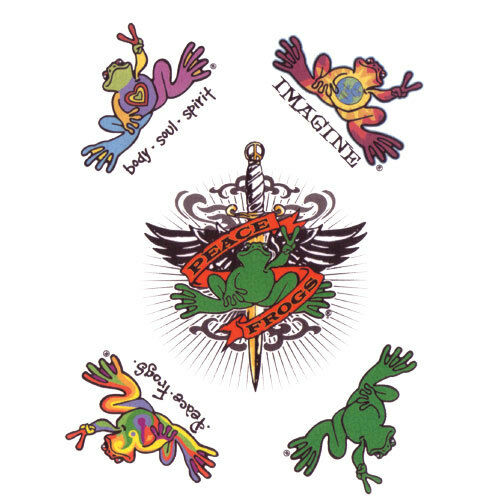 New peace frogs temporary tattoos ebay