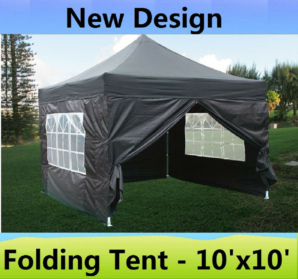 10 X 10 Pop Up Canopy Party Tent Gazebo Ez Black E