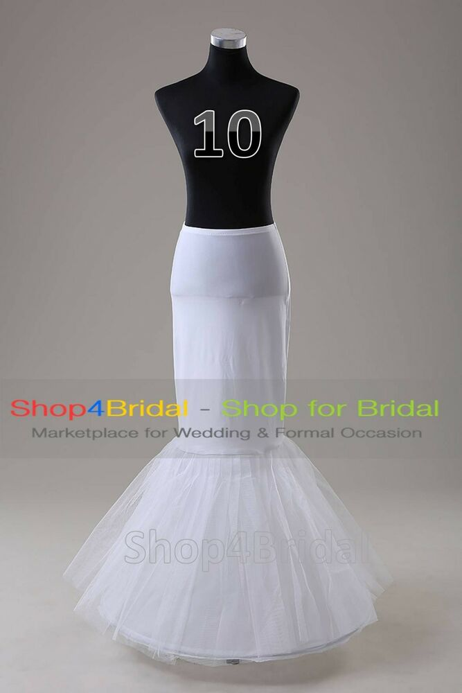 White 1 hoop fishtail mermaid skirt wedding dress for Wedding dress skirt only