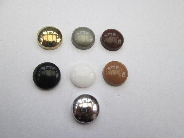 Plastic dome screw caps cover click on covers
