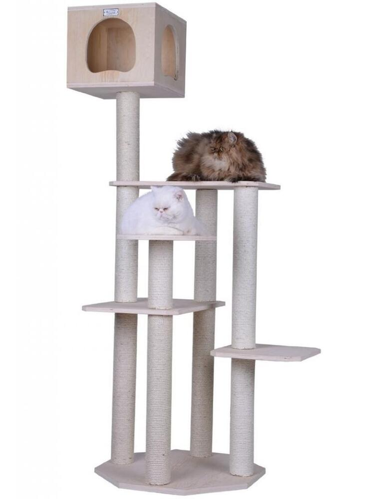 Aeromark 2013 Solid Wood Cat Tree Armarkat Cat Furniture 69 High S6905 New Ebay