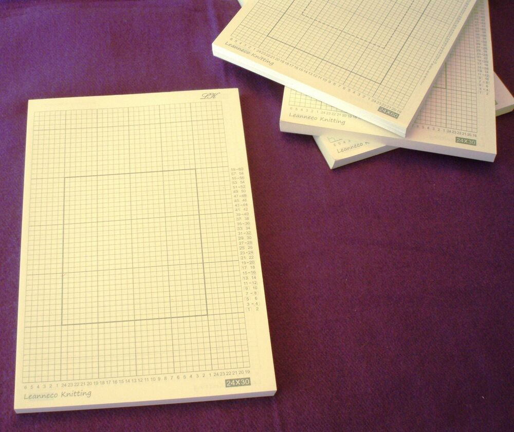 Knitting Graph Paper Uk : Grid paper pack of for stitch pattern punch card