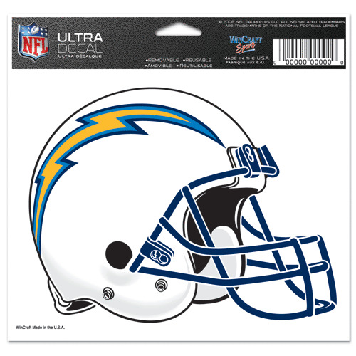 San Diego Chargers Decals: San Diego Chargers Wincraft NFL 5x6 Colored Ultra Decal