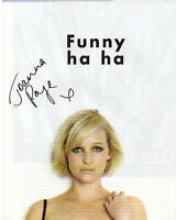 "VERY SEXY COLOUR 10"" x 8"" PHOTO ( COA ) SIGNED ""TTM"" BY JOANNA PAGE - FHM SHOOT"