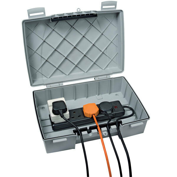 Weatherproof Outdoor Electrical Box: Timeguard Weatherproof IP55 Outdoor Power Box With 4gang