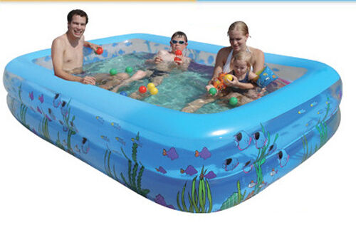 Family Adult Inflatable Swim Square Toddler Baby Kids Swimming Pools For Gift Ebay