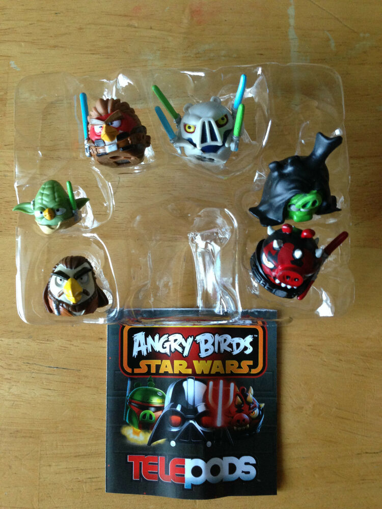 Star Wars Angry Birds Telepods Figures New Exclusive Rare