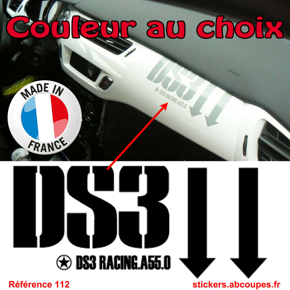 stickers tableau de bord ds3 citroen racing ds 3 planche int rieur 112 ebay. Black Bedroom Furniture Sets. Home Design Ideas