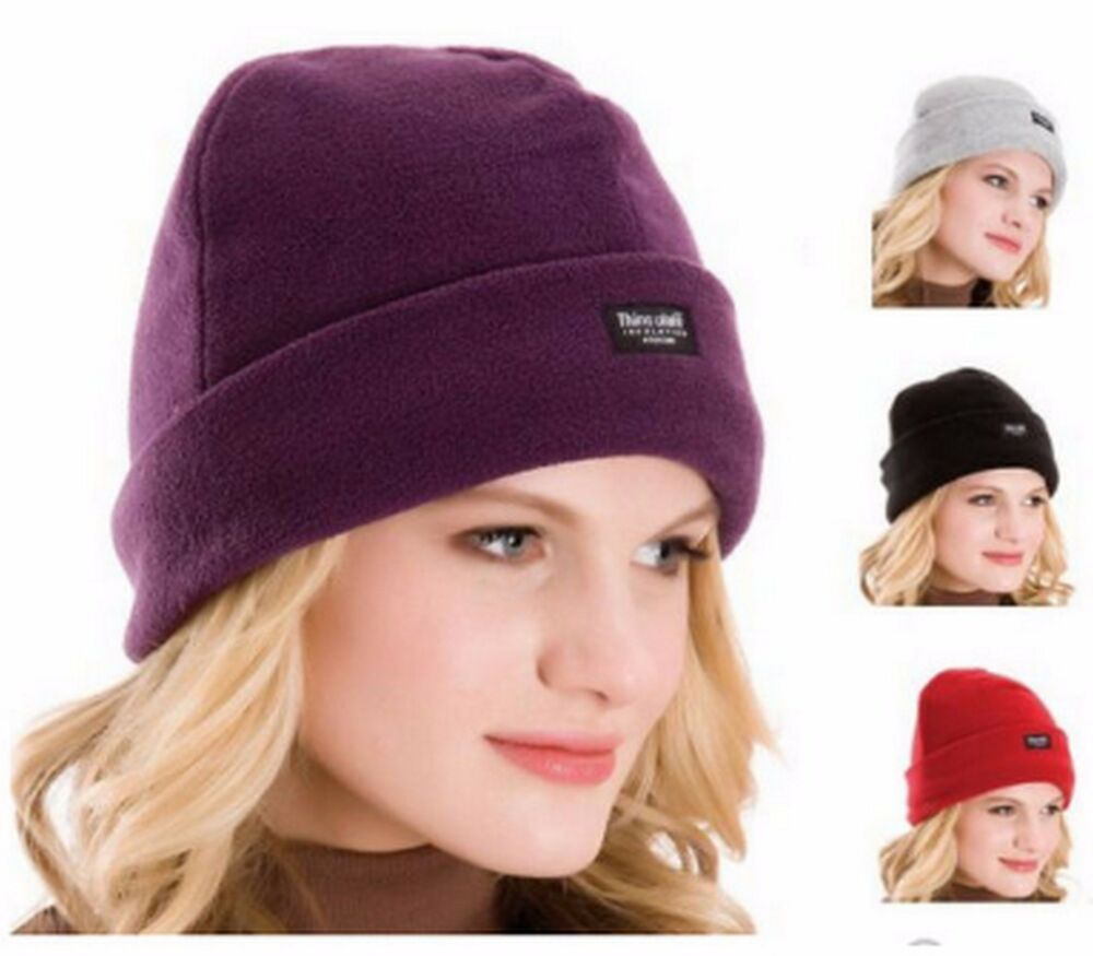 Details about New Ladies Polar Fleece Hat With Thinsulate Insulation Winter  Warm One Size BNWT 431c400213e