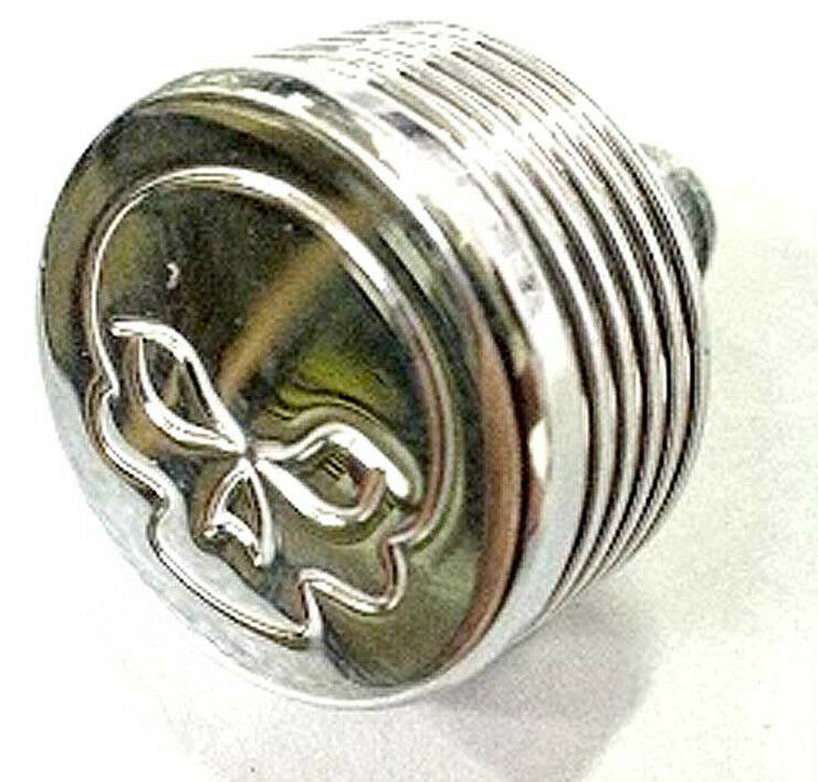 Skull Air Cleaner Cover : Chrome engraved skull cap bolt kit air cleaner for