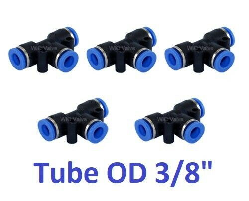 Pcs pneumatic tee union connector tube od quot air