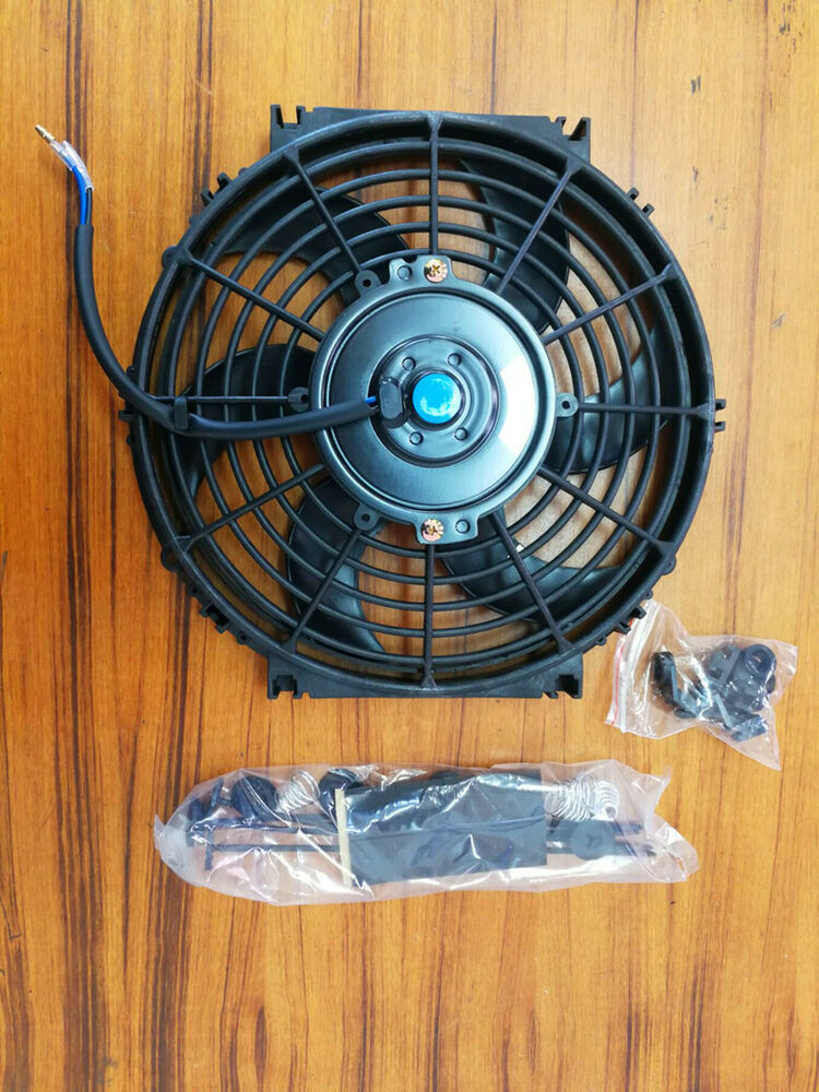 4 Inch 12 Volt Fan : Inch v volt electric cooling fan thermo mounting