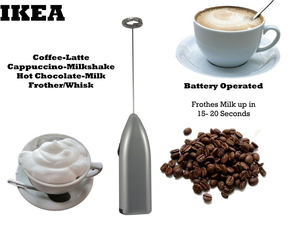 ikea coffee latte hot chocolate milk frother whisk frothy blend mixer whisker bn ebay. Black Bedroom Furniture Sets. Home Design Ideas