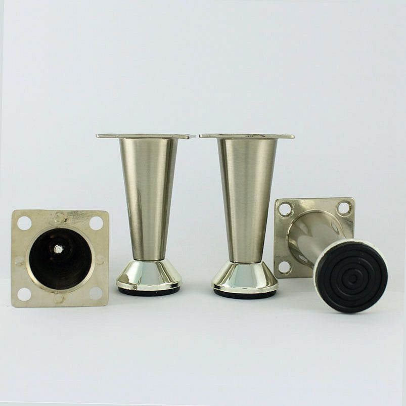 Metal Table Legs Furniture Cabinet Stand Stainless Steel Feet 3 Ebay