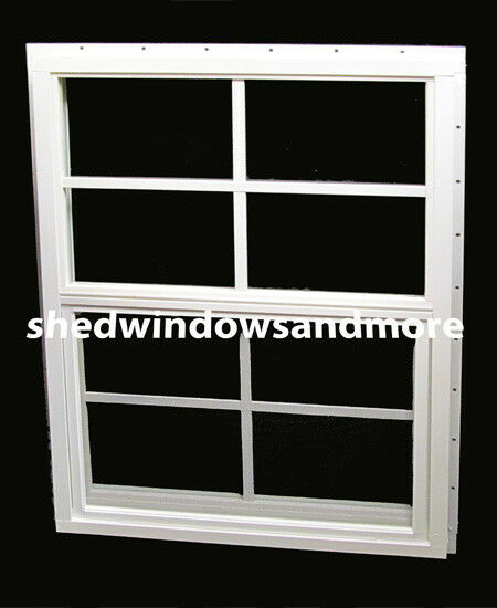shed window 18 x 36 safety glass j channel barn storage