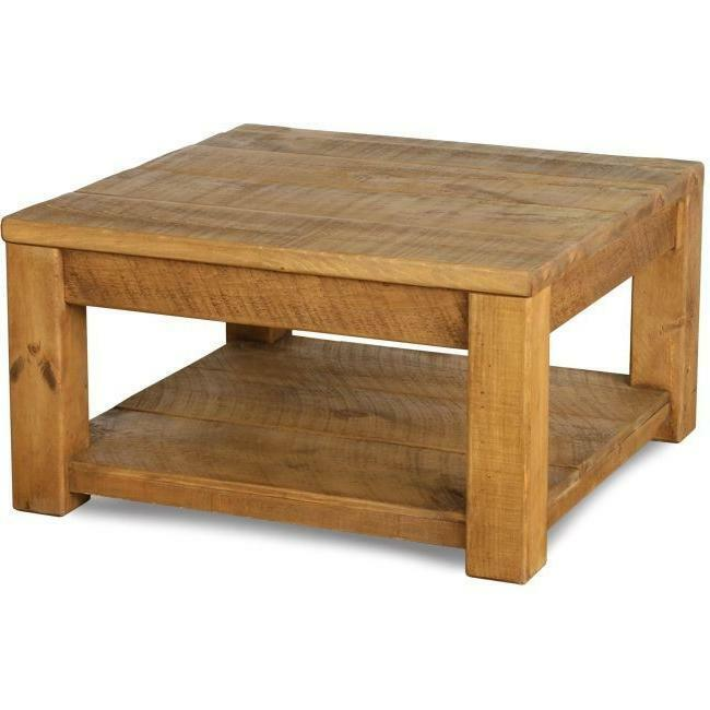 "Square Coffee Table Size: ""any Size Made"" SOLID WOOD RUSTIC PLANK PINE SQUARE COFFEE"