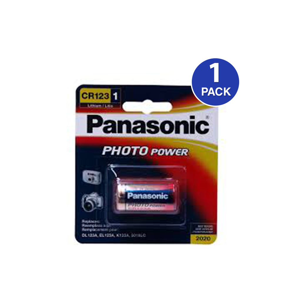 panasonic cr123 3 volt photo lithium battery 1 battery. Black Bedroom Furniture Sets. Home Design Ideas