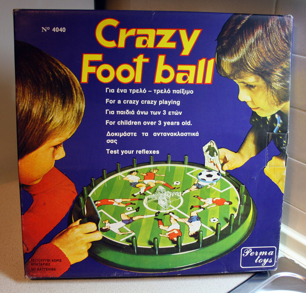 Very Rare Vintage 70 S Crazy Football Board Game Perma