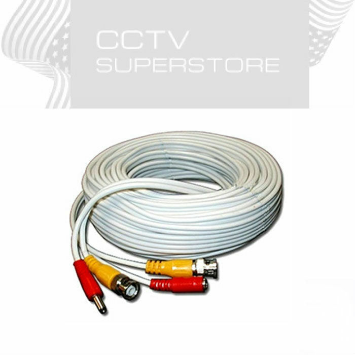 Security Camera Cable 100ft Cctv Video Power Wire Siamese
