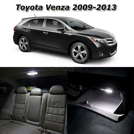 for 2009 2013 toyota venza white led interior lights. Black Bedroom Furniture Sets. Home Design Ideas