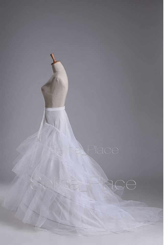 train wedding dress bridal gown crinoline petticoat skirt slip ebay