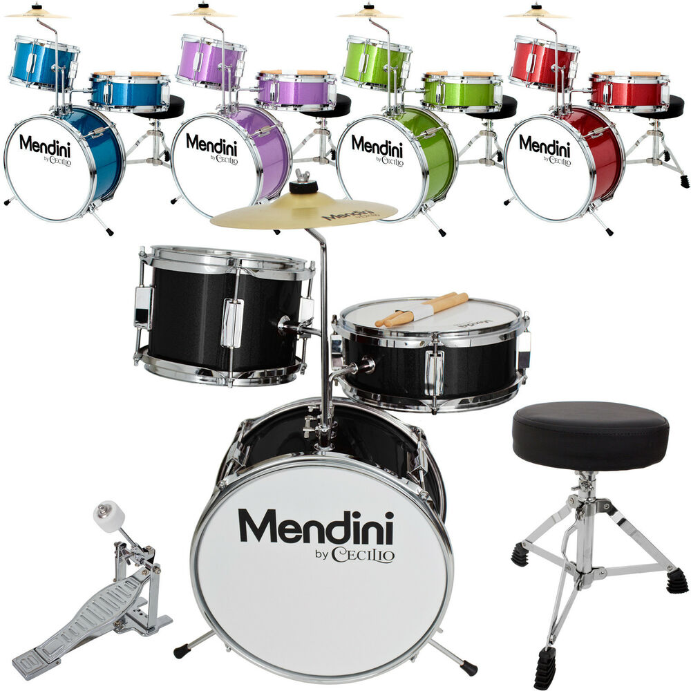 Mendini 13 Quot 3 Pieces Junior Kids Child Drum Set Kit Black