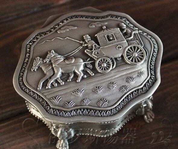 For that Vintage antique metal jewelry boxes