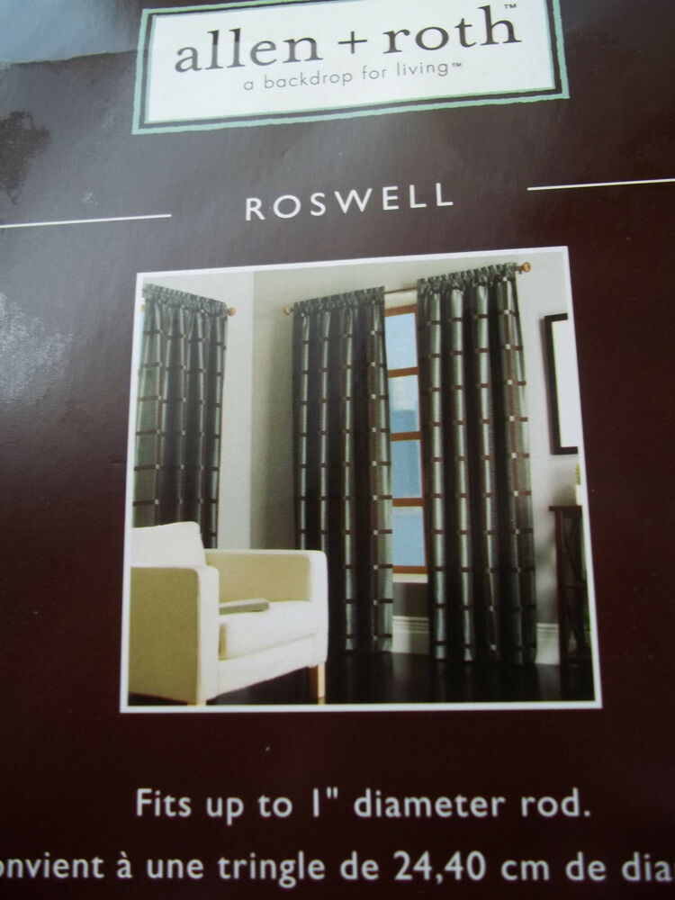 New Allen Roth Roswell Curtain Panel Rod Pocket 56 Quot X 84