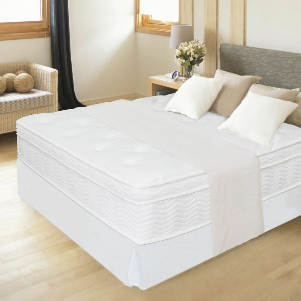 New 12 Quot Night Therapy Euro Box Top Spring Mattress Queen