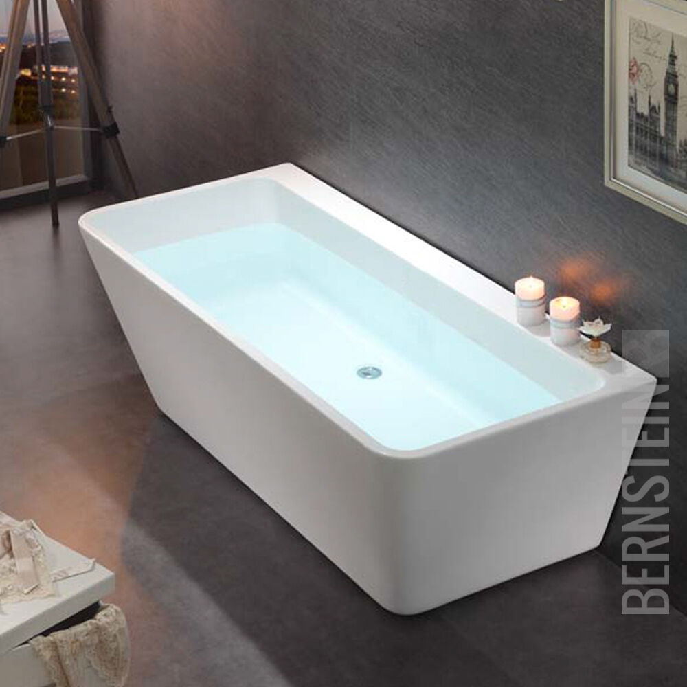 freistehende badewanne acryl venezia wei 170x80cm ebay. Black Bedroom Furniture Sets. Home Design Ideas