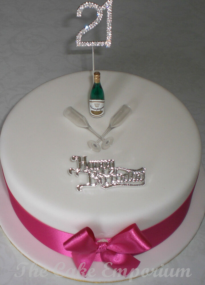 Edible Champagne Bottle Cake Decorations