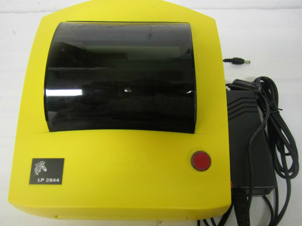 zebra lp 2844 label thermal printer yellow color with power supply usb cable ebay. Black Bedroom Furniture Sets. Home Design Ideas