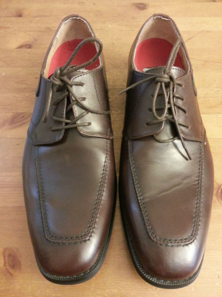 bass abilene brown leather oxford dress shoes