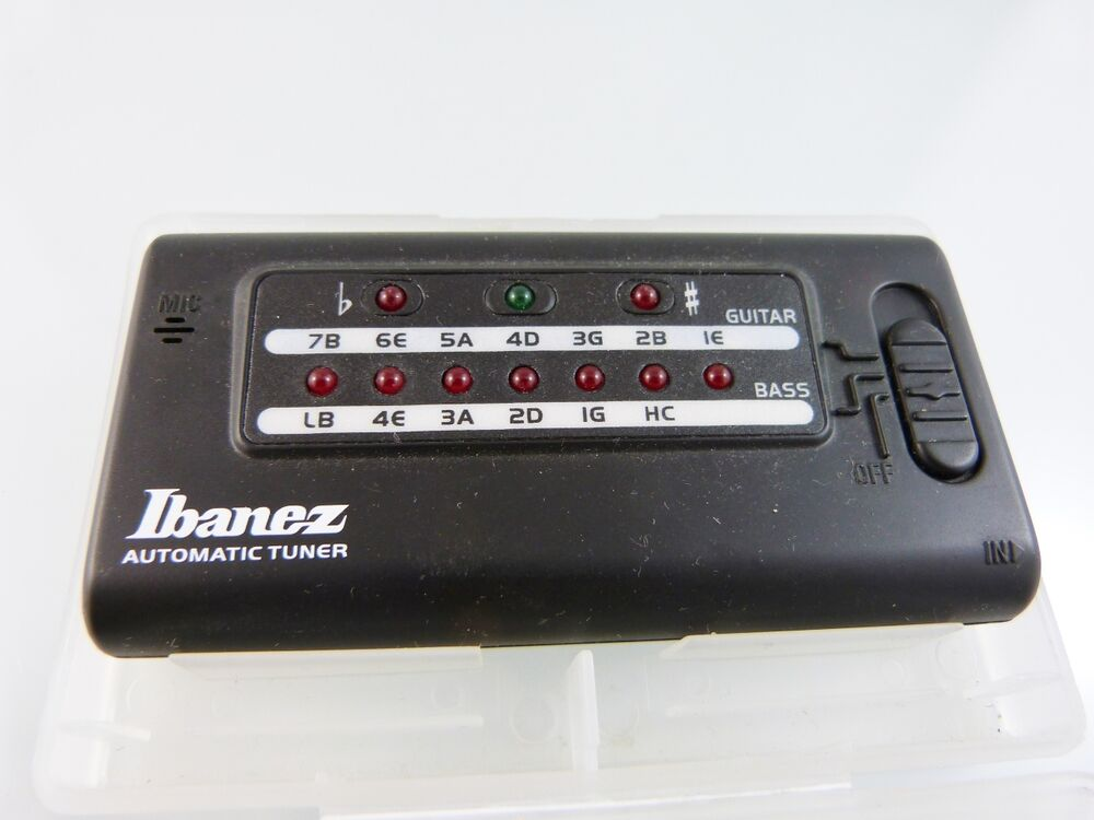digital processing guitar tuner by ibanez automatic tuner ebay. Black Bedroom Furniture Sets. Home Design Ideas