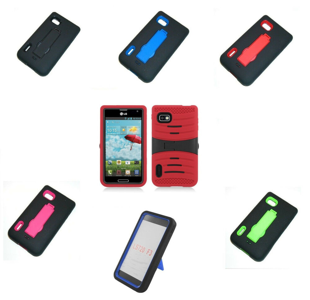 ... Stand Hard Soft Cover For T-Mobile LG Optimus F3 MS659 P659 : eBay