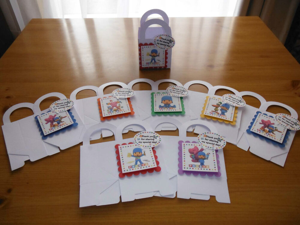 Personalized Party Favor Boxes Birthday : Pocoyo boxes birthday party favors goody bags