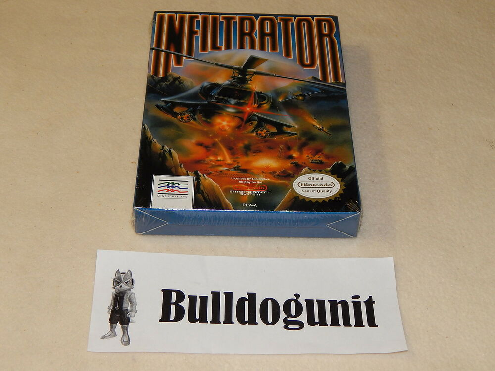 New Box Games : New infiltrator nes nintendo game sealed complete box