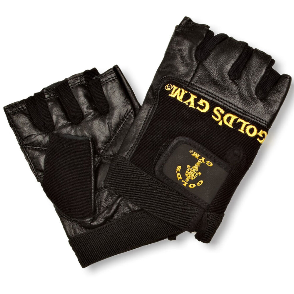 Weight Lifting Gloves Leather Fitness Gym Training Workout: Golds Gym Max Lift Leather Weight Lifting Gloves Body