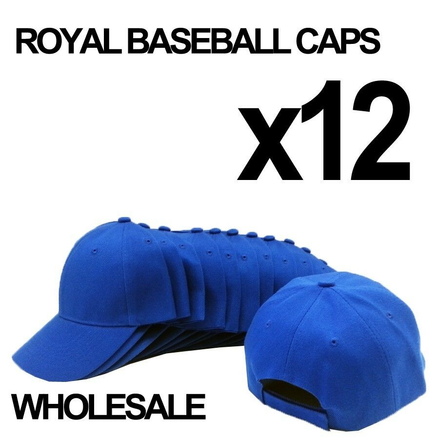 **ROYAL BLUE** WHOLESALE LOT OF 12 PLAIN BLANK SOLID ...