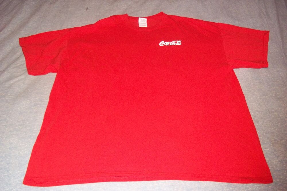 coca cola coke t shirt mens 2xl xxl red ebay. Black Bedroom Furniture Sets. Home Design Ideas