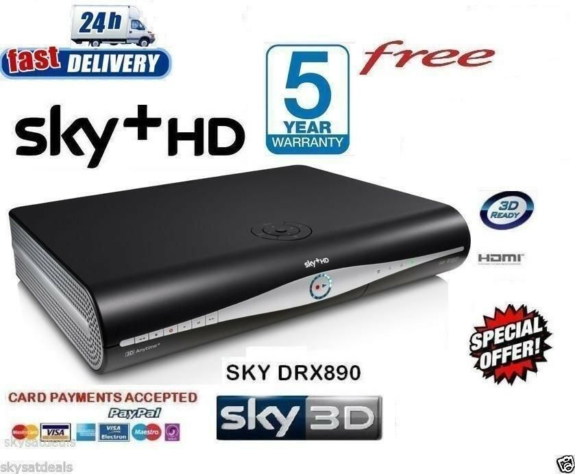 Sky Plus Hd Box Sky Amstrad Drx890c On Demand Ebay