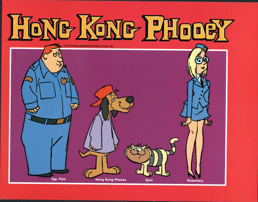 hanna barbera style guide plate hong kong phooey the gang ebay. Black Bedroom Furniture Sets. Home Design Ideas