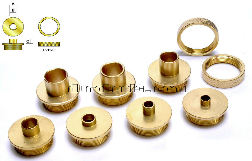 Brass router template guide bushing set dewalt porter for How to use router template guide bushings