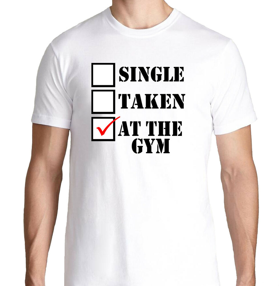 Single Taken At The Gym Funny Crossfit Health Running